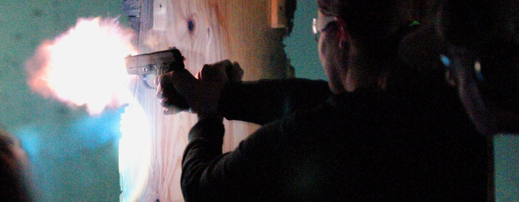 woman shooting range