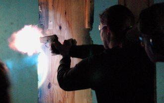 woman shooting range