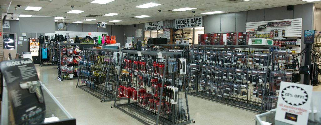 The shop at Caswells Shooting Range