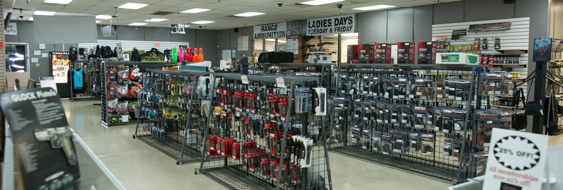 The shop at Caswells Shooting Range accessible with the General Package