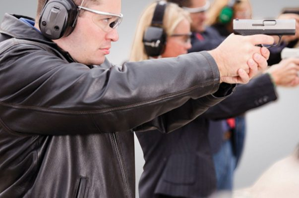 A group shooting at Caswells Shooting Range